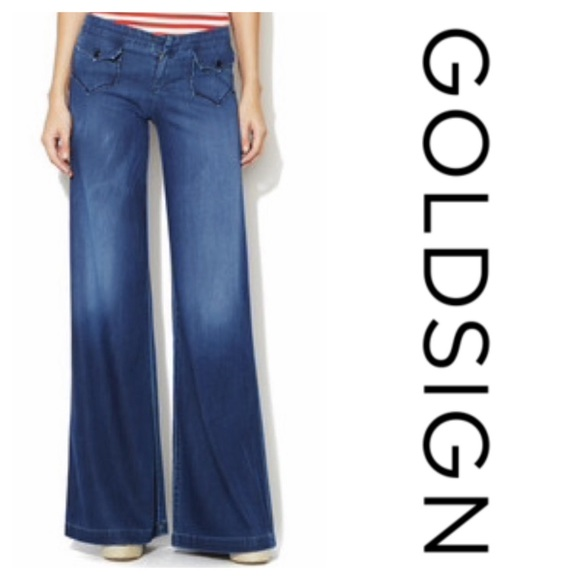 Goldsign Denim - Goldsign Scandal Wide Leg Dark Wash Jeans (27)